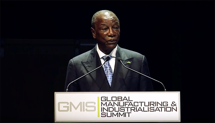 Image4 - Alpha Conde President of Guinea speaking GMIS event